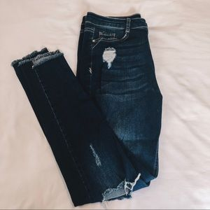 Missguided denim skinny jeans